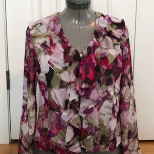Evan-Picone pink flower top